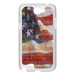 Grunge United State Of Art Flag Samsung Galaxy Note 2 Case (White) Front