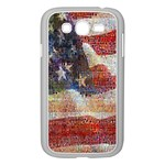Grunge United State Of Art Flag Samsung Galaxy Grand DUOS I9082 Case (White) Front