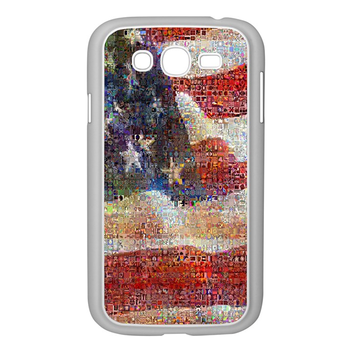 Grunge United State Of Art Flag Samsung Galaxy Grand DUOS I9082 Case (White)
