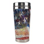 Grunge United State Of Art Flag Stainless Steel Travel Tumblers Left