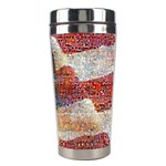 Grunge United State Of Art Flag Stainless Steel Travel Tumblers Right