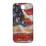 Grunge United State Of Art Flag Samsung Galaxy S4 I9500/I9505  Hardshell Back Case Front