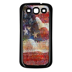 Grunge United State Of Art Flag Samsung Galaxy S3 Back Case (Black)