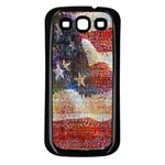 Grunge United State Of Art Flag Samsung Galaxy S3 Back Case (Black) Front