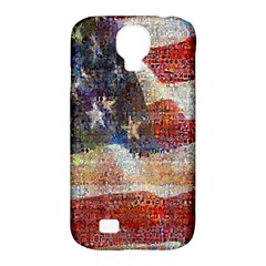 Grunge United State Of Art Flag Samsung Galaxy S4 Classic Hardshell Case (PC+Silicone)