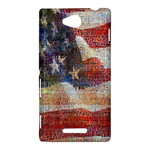 Grunge United State Of Art Flag Sony Xperia C (S39H)