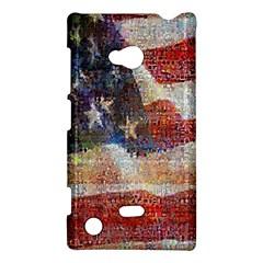 Grunge United State Of Art Flag Nokia Lumia 720