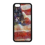 Grunge United State Of Art Flag Apple iPhone 5C Seamless Case (Black) Front