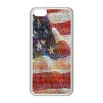 Grunge United State Of Art Flag Apple iPhone 5C Seamless Case (White) Front