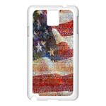 Grunge United State Of Art Flag Samsung Galaxy Note 3 N9005 Case (White) Front