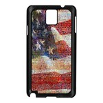 Grunge United State Of Art Flag Samsung Galaxy Note 3 N9005 Case (Black) Front