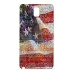 Grunge United State Of Art Flag Samsung Galaxy Note 3 N9005 Hardshell Back Case Front