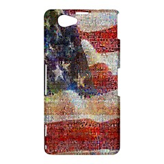Grunge United State Of Art Flag Sony Xperia Z1 Compact