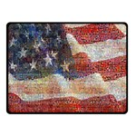 Grunge United State Of Art Flag Double Sided Fleece Blanket (Small)  50 x40 Blanket Front