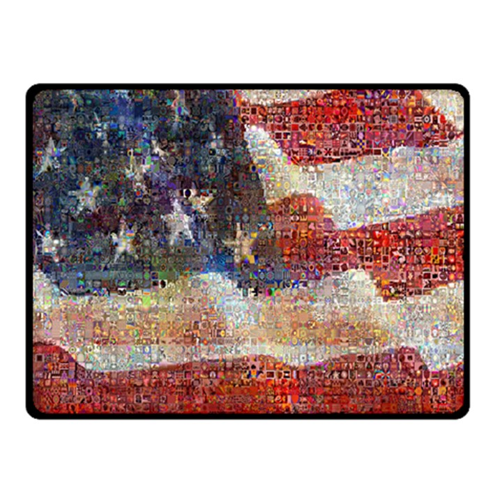 Grunge United State Of Art Flag Double Sided Fleece Blanket (Small)