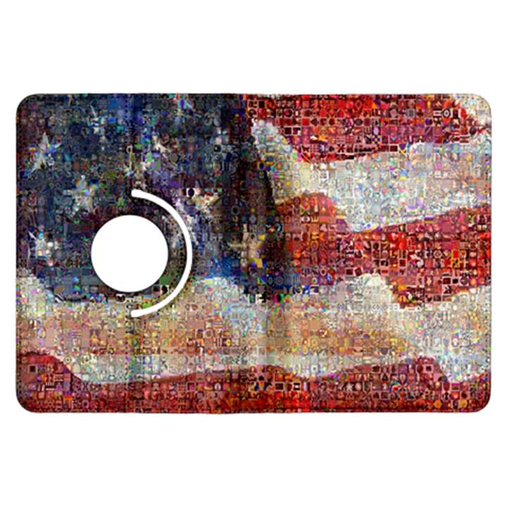 Grunge United State Of Art Flag Kindle Fire HDX Flip 360 Case