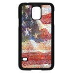 Grunge United State Of Art Flag Samsung Galaxy S5 Case (Black) Front