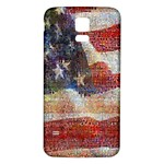 Grunge United State Of Art Flag Samsung Galaxy S5 Back Case (White) Front