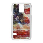 Grunge United State Of Art Flag Samsung Galaxy S5 Case (White) Front
