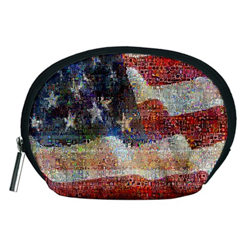 Grunge United State Of Art Flag Accessory Pouches (Medium)