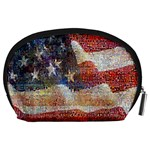 Grunge United State Of Art Flag Accessory Pouches (Large)  Back