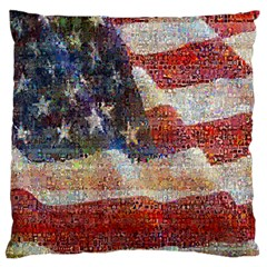 Grunge United State Of Art Flag Standard Flano Cushion Case (Two Sides)