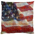 Grunge United State Of Art Flag Large Flano Cushion Case (Two Sides) Front