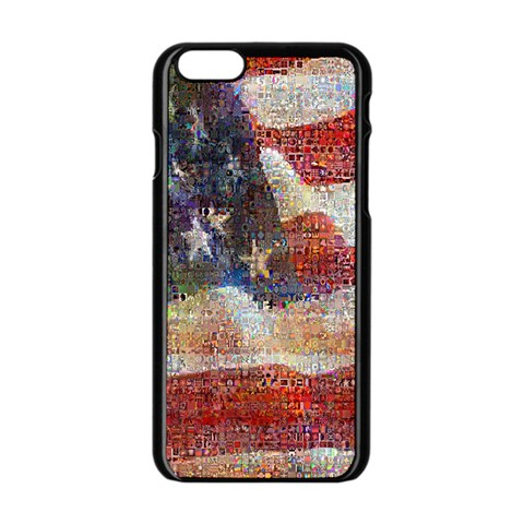 Grunge United State Of Art Flag Apple iPhone 6/6S Black Enamel Case