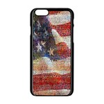 Grunge United State Of Art Flag Apple iPhone 6/6S Black Enamel Case Front