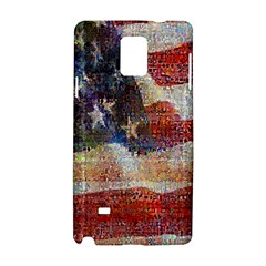 Grunge United State Of Art Flag Samsung Galaxy Note 4 Hardshell Case
