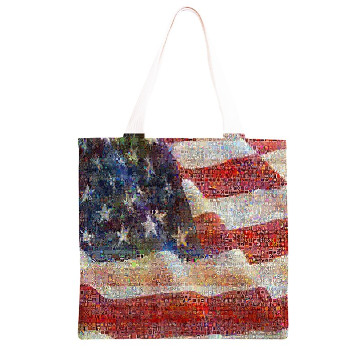 Grunge United State Of Art Flag Grocery Light Tote Bag