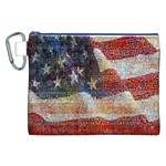 Grunge United State Of Art Flag Canvas Cosmetic Bag (XXL) Front