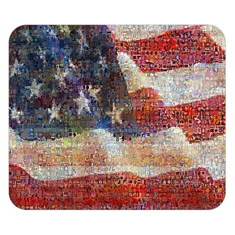 Grunge United State Of Art Flag Double Sided Flano Blanket (Small)