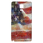Grunge United State Of Art Flag Galaxy Note 4 Back Case Front