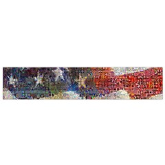 Grunge United State Of Art Flag Flano Scarf (Small)