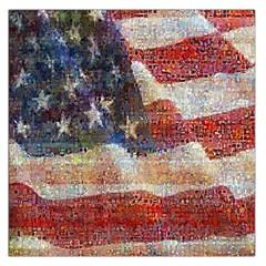 Grunge United State Of Art Flag Large Satin Scarf (Square)