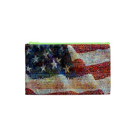 Grunge United State Of Art Flag Cosmetic Bag (XS)