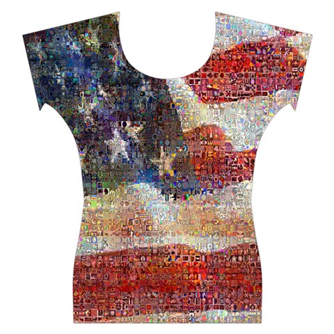 Grunge United State Of Art Flag Women s Cap Sleeve Top