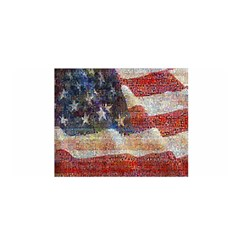 Grunge United State Of Art Flag Satin Wrap