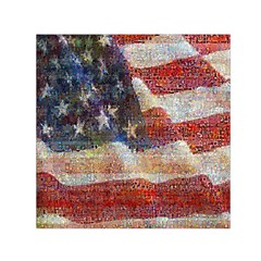 Grunge United State Of Art Flag Small Satin Scarf (Square)