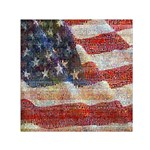 Grunge United State Of Art Flag Small Satin Scarf (Square) Front
