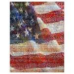 Grunge United State Of Art Flag Drawstring Bag (Large) Back