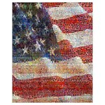 Grunge United State Of Art Flag Drawstring Bag (Small) Front