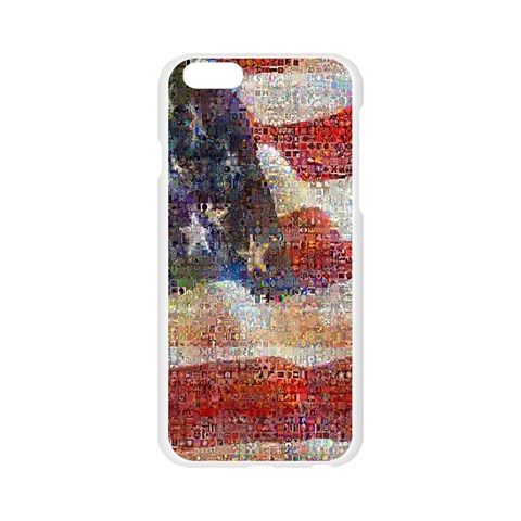 Grunge United State Of Art Flag Apple Seamless iPhone 6/6S Case (Transparent)