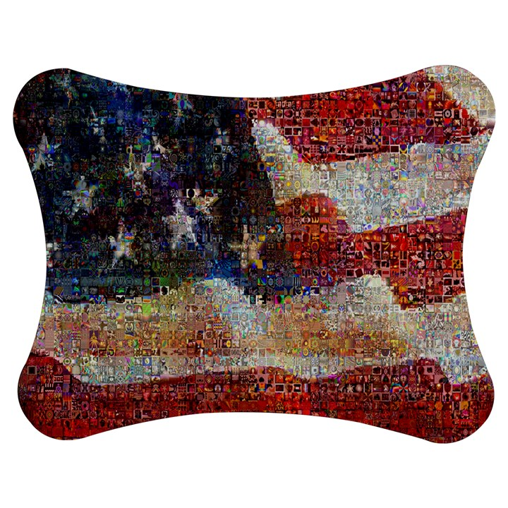 Grunge United State Of Art Flag Jigsaw Puzzle Photo Stand (Bow)