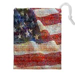 Grunge United State Of Art Flag Drawstring Pouches (XXL) Front