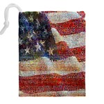 Grunge United State Of Art Flag Drawstring Pouches (XXL) Back