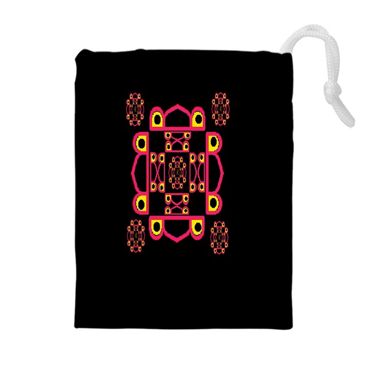 LETTER R Drawstring Pouches (Extra Large)