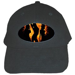 Heart Love Flame Girl Sexy Pose Black Cap