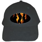 Heart Love Flame Girl Sexy Pose Black Cap Front